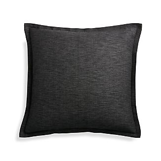 "Linden Ebony 18"" Pillow Cover"