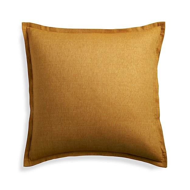Crate And Barrel Decorative Pillow Covers : Linden Gold 23