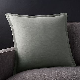 "Linden Grey 18"" Pillow with Down-Alternative Insert"