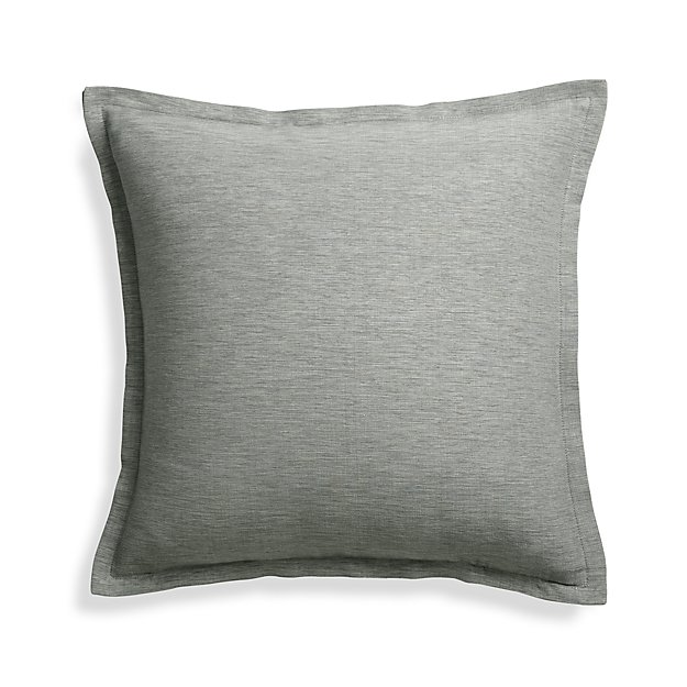 Crate And Barrel Decorative Pillow Covers : Linden Grey 18