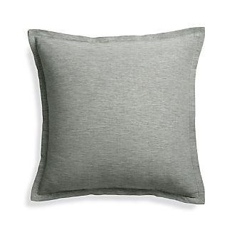 "Linden Grey 18"" Pillow Cover"