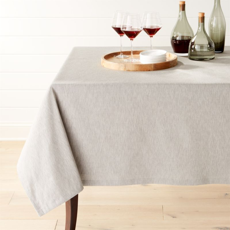 Linden Grey Tablecloth Crate And Barrel