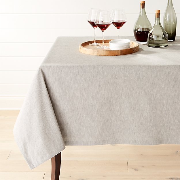 "Linden Grey 60""x90"" Tablecloth"