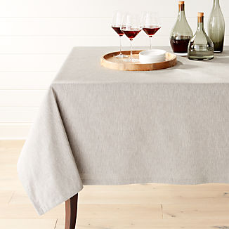 Linden Grey Tablecloth