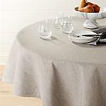 Linden Grey 90  Round Tablecloth