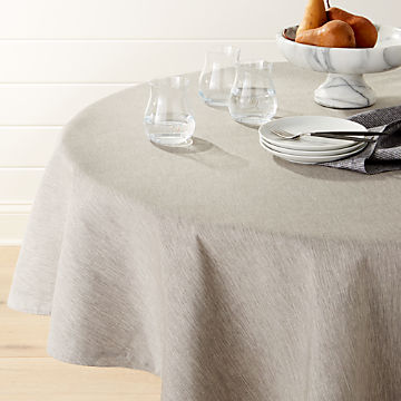 Tablecloths: Linen, Cotton & Polyester   Crate and Barrel