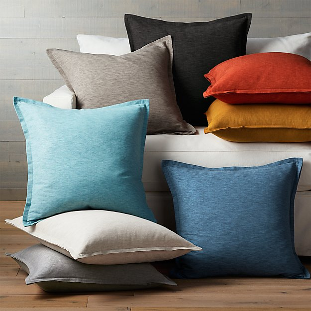 linden off white throw pillow | crate and barrel White Throw Pillows for Couch
