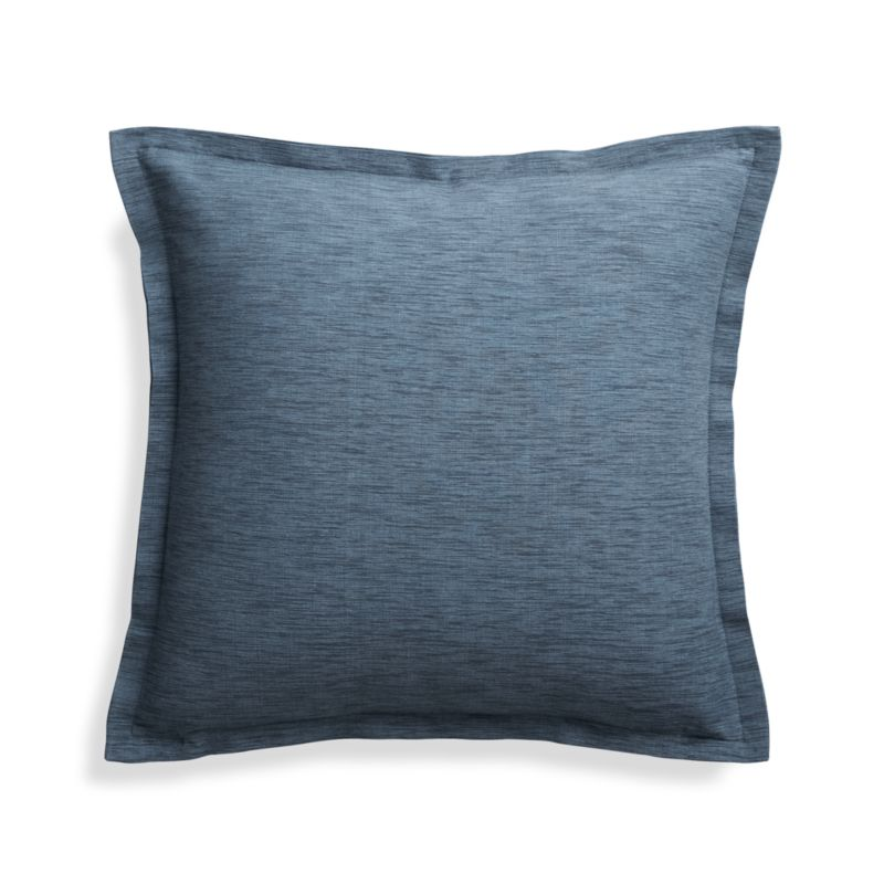 Crate And Barrel Decorative Pillow Covers : Linden Indigo 18