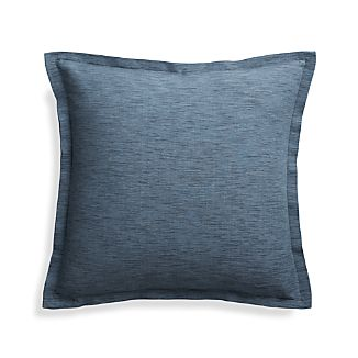 "Linden Indigo 18"" Pillow Cover"