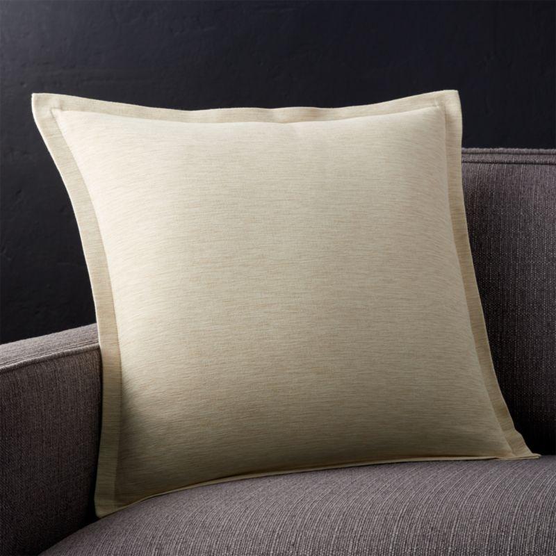 Linden Natural Throw Pillow Crate and Barrel