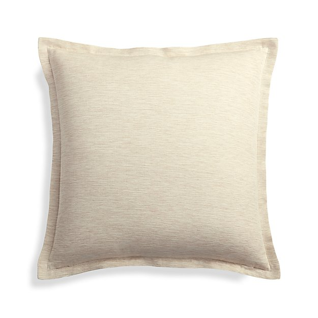 Crate And Barrel Decorative Pillow Covers : Linden Natural 18