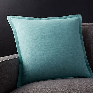 "Linden Ocean 18"" Pillow with Down-Alternative Insert"