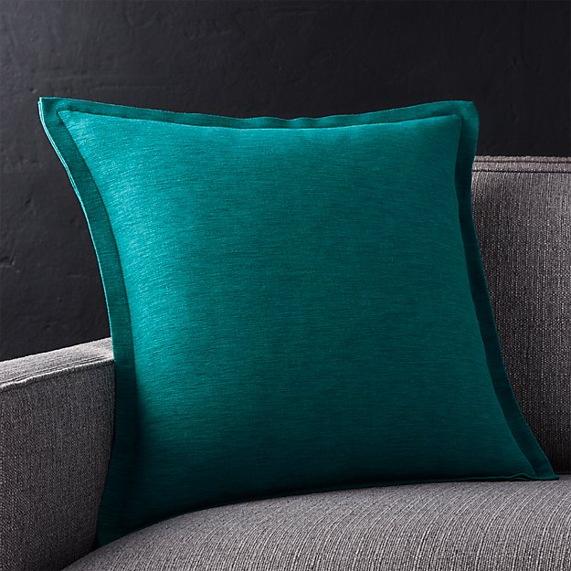 Crate And Barrel Decorative Pillow Covers : Linden Peacock Blue Throw Pillow Crate and Barrel