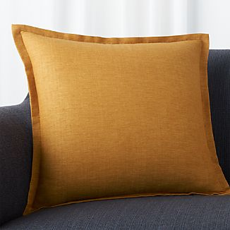 "Linden Gold 18"" Pillow with Down-Alternative Insert"