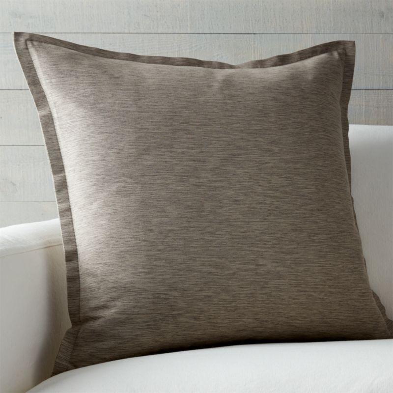 Linden Mushroom Grey 23 Quot Pillow Crate And Barrel