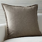 Linden Mushroom Grey 23  Pillow with Feather-Down Insert