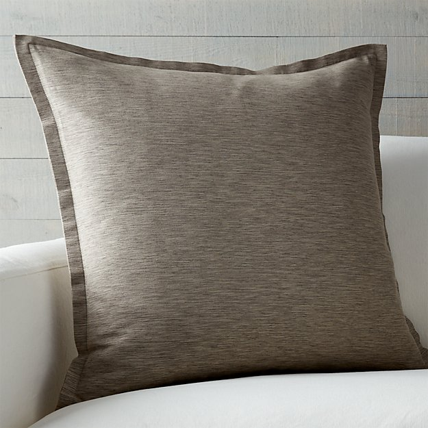 "Linden Mushroom Grey 23"" Pillow - Image 1 of 6"
