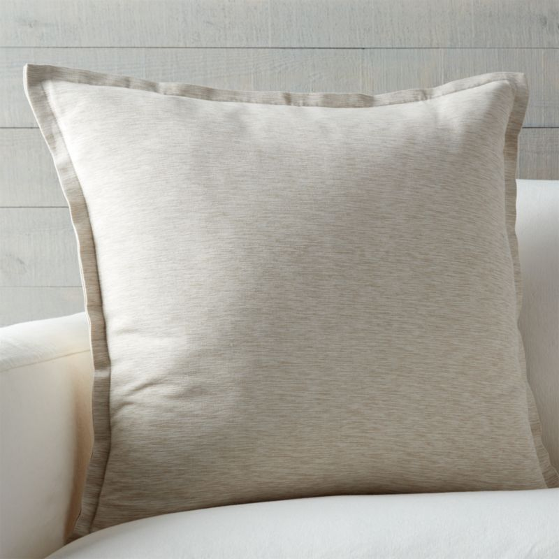Linden Off White Throw Pillow Crate and Barrel