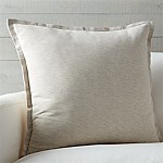 Linden Natural 23  Pillow with Down-Alternative Insert
