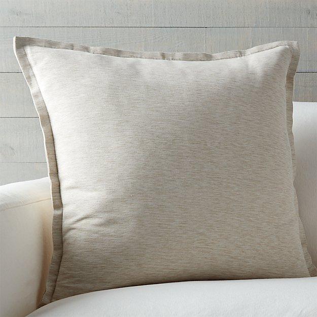 "Pillows Decorative Pillows Natural Pillows: Linden Natural 23"" Pillow With Feather-Down Insert"