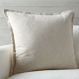 "Linden Natural 23"" Pillow with Down-Alternative Insert"