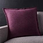 Linden Plum 18  Pillow with Down-Alternative Insert