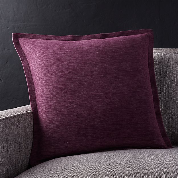 "Linden Plum 18"" Pillow with Down-Alternative Insert"