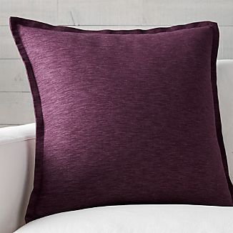 "Linden Plum 23"" Pillow with Down-Alternative Insert"