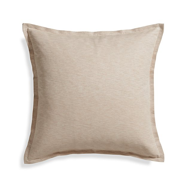 Crate And Barrel Decorative Pillow Covers : Linden Natural 23