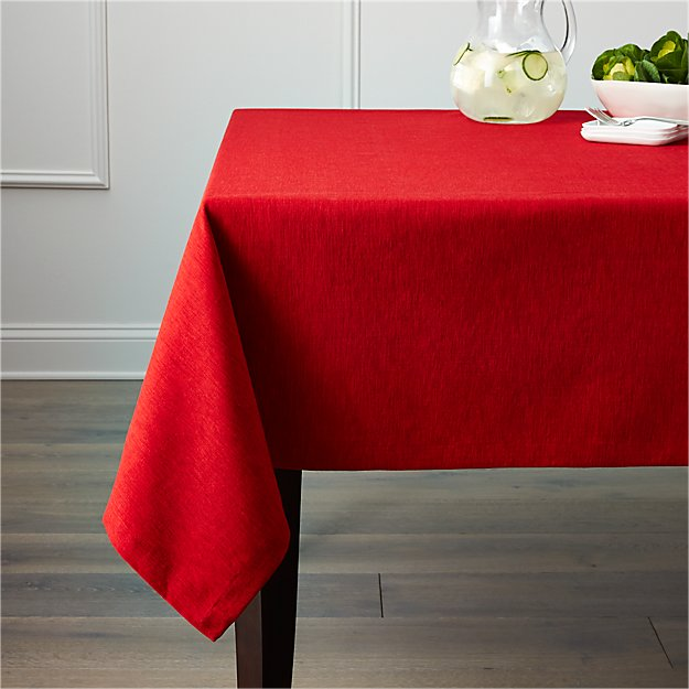 "Linden Ruby Red Tablecloth 60""x144"""