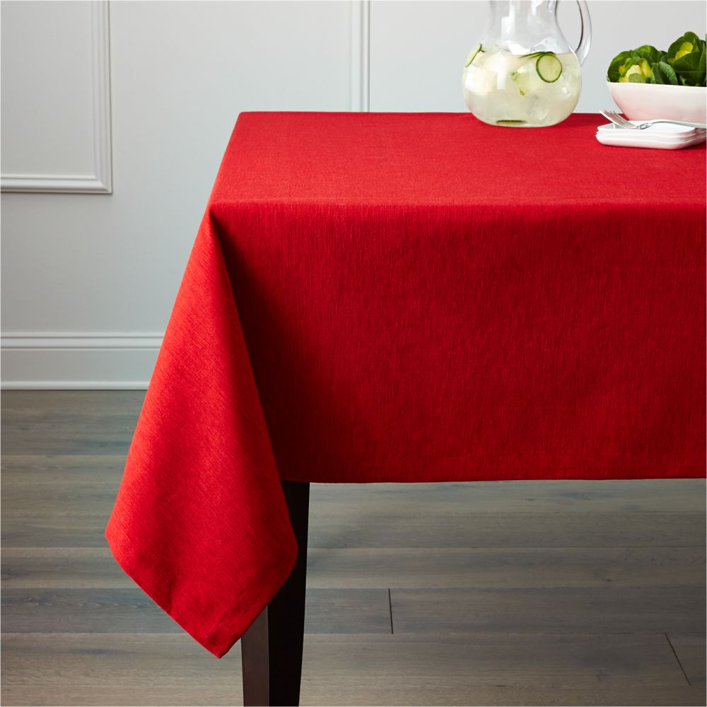 Linden Ruby Red Tablecloth 60