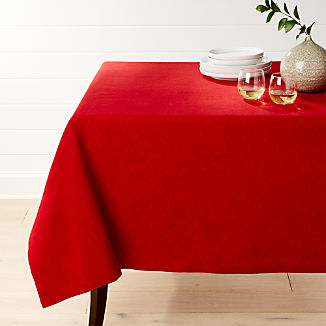 """Linden Ruby Red Tablecloth 60""""x120"""""""