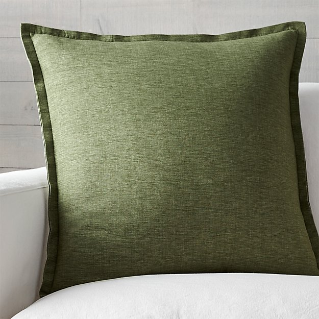 "Linden Sage 23"" Pillow with Down-Alternative Insert"
