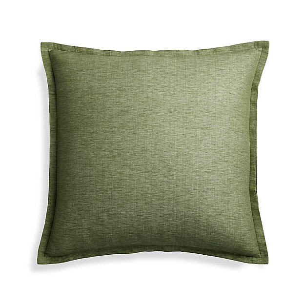 Crate And Barrel Decorative Pillow Covers : Linden Sage 23