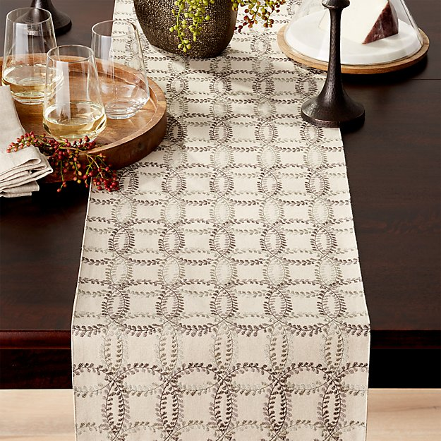 "Lindley Embroidered 120"" Table Runner"