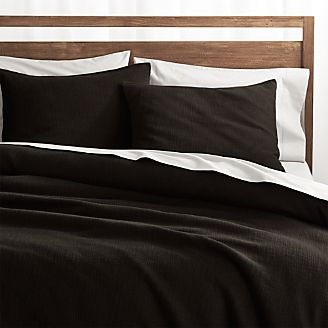 lindstrom black duvet covers and pillow shams