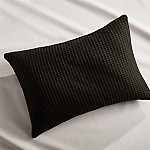 Lindstrom Black Bed Pillow 22x15 Pillow with Down-Alternative Insert