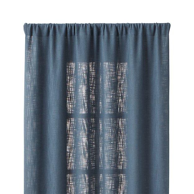 lindstrom blue 48 x96 curtain panel crate and barrel. Black Bedroom Furniture Sets. Home Design Ideas
