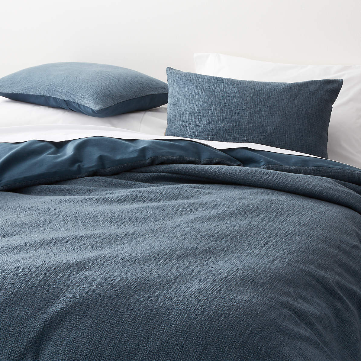 Lindstrom Blue Full Queen Duvet Cover Reviews Crate And Barrel