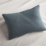 Lindstrom Blue Bed Pillow 22x15 with Feather Down Insert