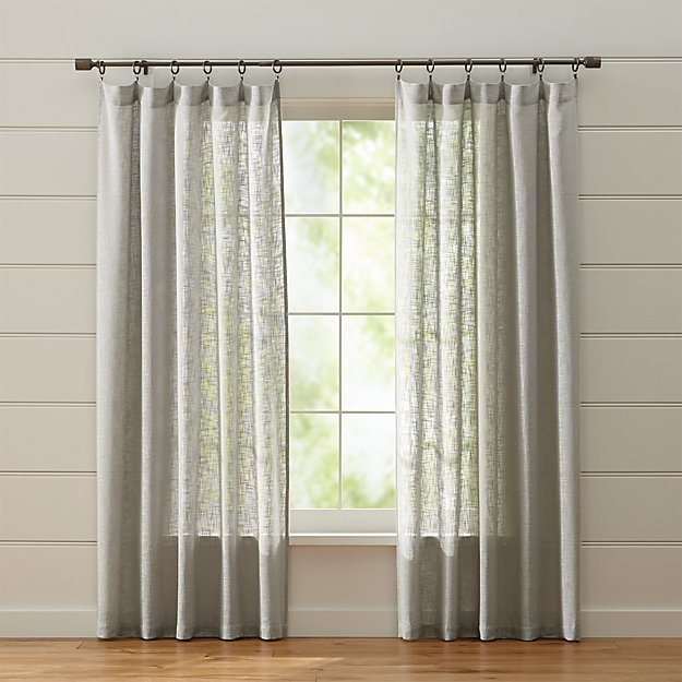 Lindstrom Grey Curtains | Crate and Barrel