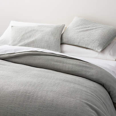 Lindstrom Grey Full Queen Duvet Cover, Crate And Barrel Bedding Reviews