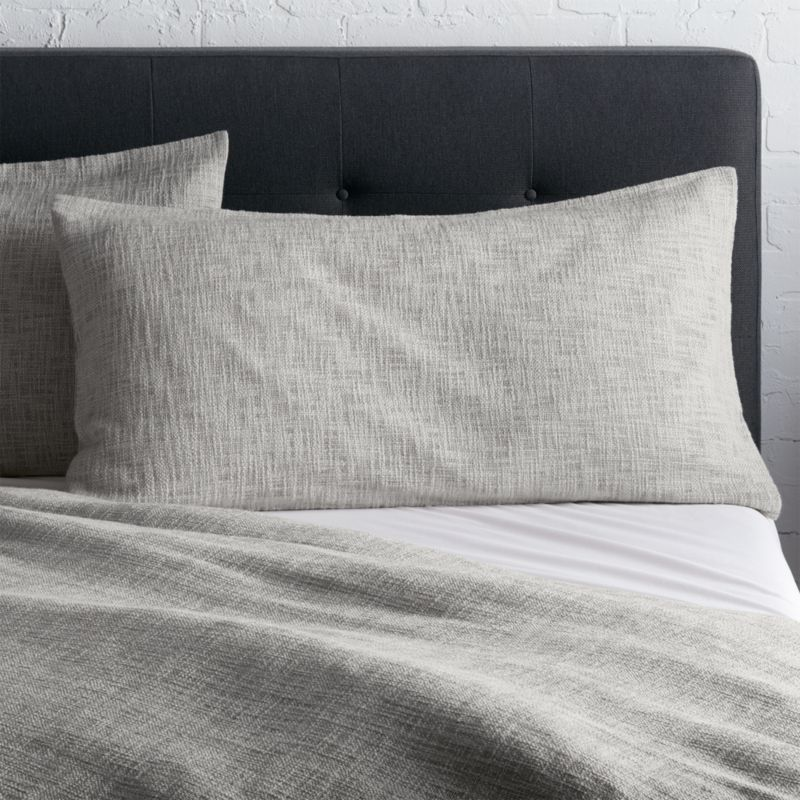 Lindstrom Grey King Sham Reviews Crate And Barrel