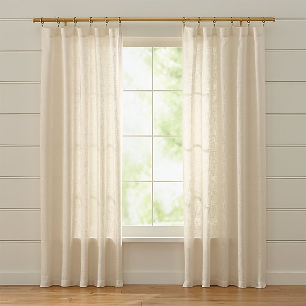 Lindstrom Sheer Ivory Curtains Crate And Barrel