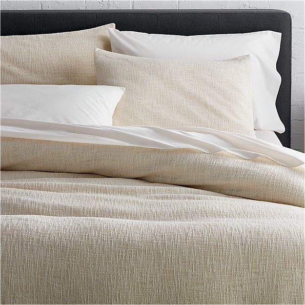 Lindstrom Ivory Duvet Covers And Pillow Shams Crate And