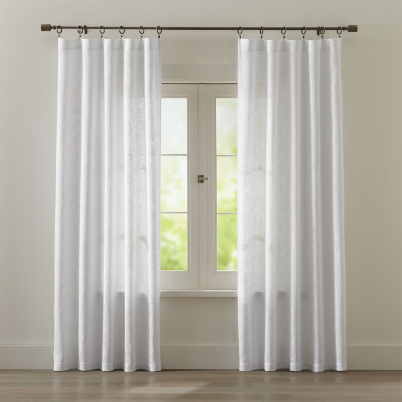 Curtains for living room drapery curtain curtain ideas for living - Lindstrom White Cotton Curtains Crate And Barrel