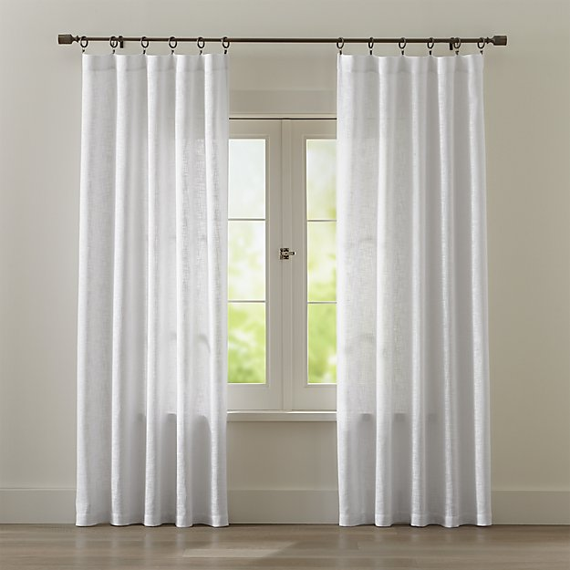 Lindstrom White Cotton Curtains