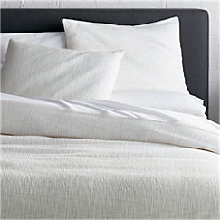 View Larger Image Of Lindstrom White Full Queen Duvet Cover