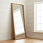 Linea II Natural Floor Mirror