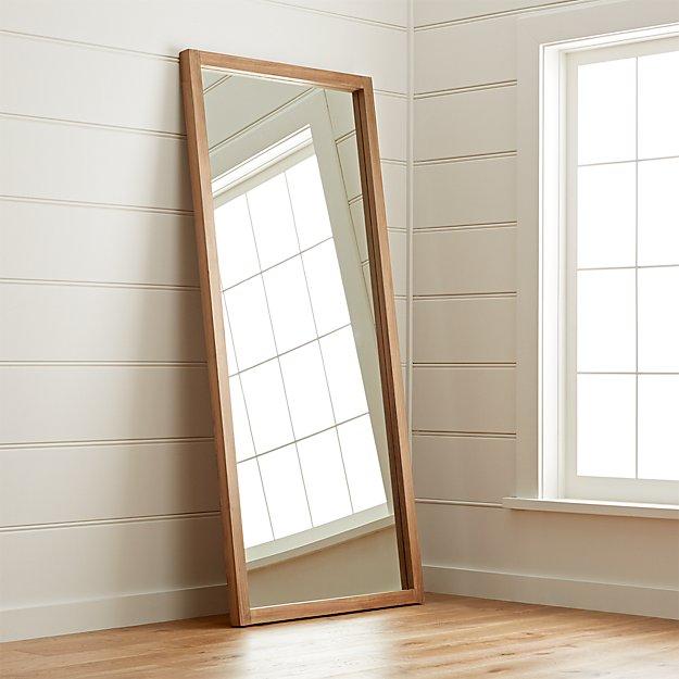 Linea Teak Floor Mirror Crate And Barrel